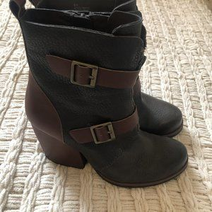 Kork Ease Buckle Leather Boots 6